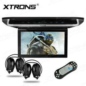 RooScreens, Car Roof Mounted Monitor, Ceiling Monitor DVD USB SD Player Games From £199.99 Fitted
