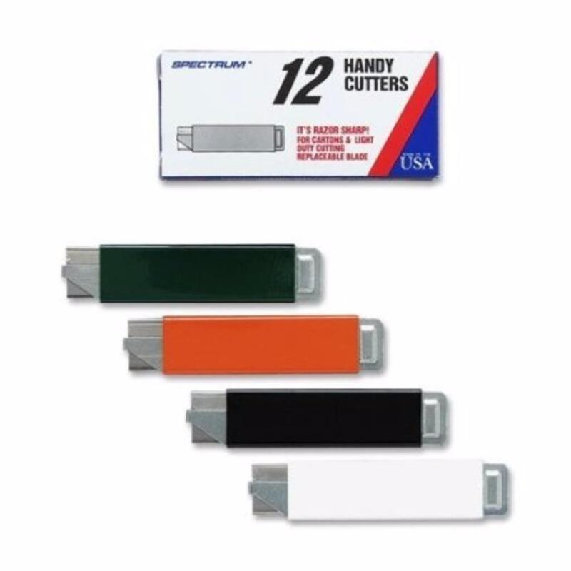 Pacific Handy Cutter HC100 Box Cutters Tap Open/Tap Close 12 Pack Box Assorted