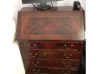 Antique desk (bureau) h95 w75 d42 cm