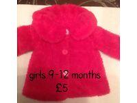 9-12 months baby girl coat