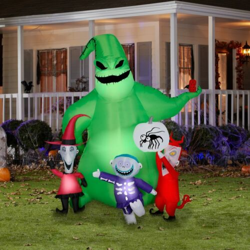 7 Ft OOGIE BOOGIE W CREATURES Airblown Lighted Yard Inflatable