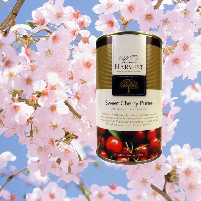 SWEET CHERRY FRUIT PUREE VINTNERS HARVEST WINE BEER MEAD MOCKTAIL BASE 49oz CAN