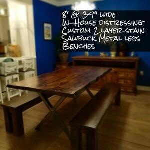 Custom handmade distressed tables - *Made right here LOCALLY* SAVE THE TAX