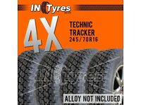 4x 245/70R16 Technic AT Tyres All Terrain Four 245 70 16 A/T 4x4