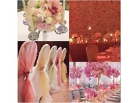 STUNNING COMPLETE CUSTOMISED WEDDING/EVENT PACKAGE *VENUE DRESSING,BACKDROP,CENTREPIECE,CHAIR COVERS