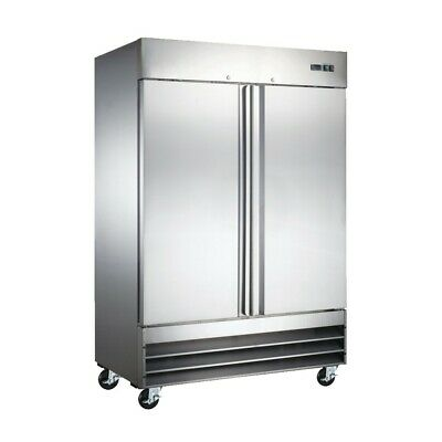 Peakcold 2 Door Upright Commercial Reach In Stainless Steel Restaurant Freezer