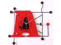 35cm Large Digital Mute Quartz Motion A Alphabetic Wall Clock In outdoor Décor