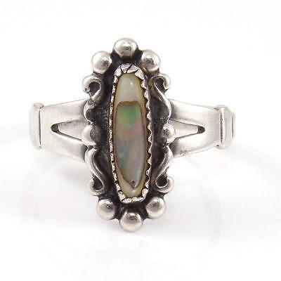 Bell Trading Post Sterling Silver Abalone Bead Ball Scroll Ring Size 6.25 for sale  USA