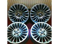 "Set of Four Genuine RARE Bmw 187 Style 17"" Twisted Spoke"