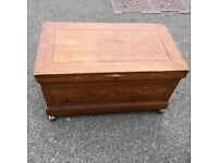 Wooden Storage Trunk (with two secret drawers under inner shelf)