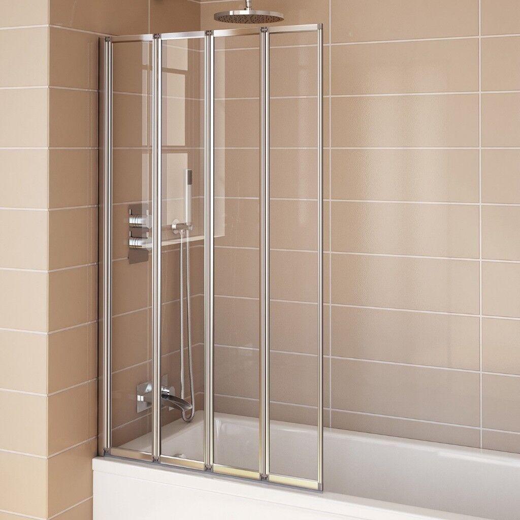 Modern Bathroom 4fold Foldable Shower Screen Door New In Box In