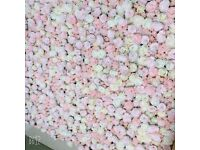 Events/party decorator/floral decor flower wall backdrops to hire