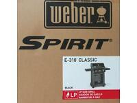 Weber Spirit E-310 Gas BBQ brand new boxed