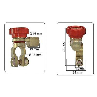 17mm Aislador Universal Interruptor Desconectador Corta Corriente Bateria Coche