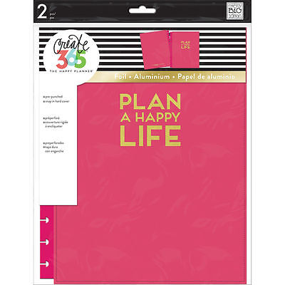 Create 365 The Big Happy Planner Snap In Hard Cover By Mambi  Pink New 2017