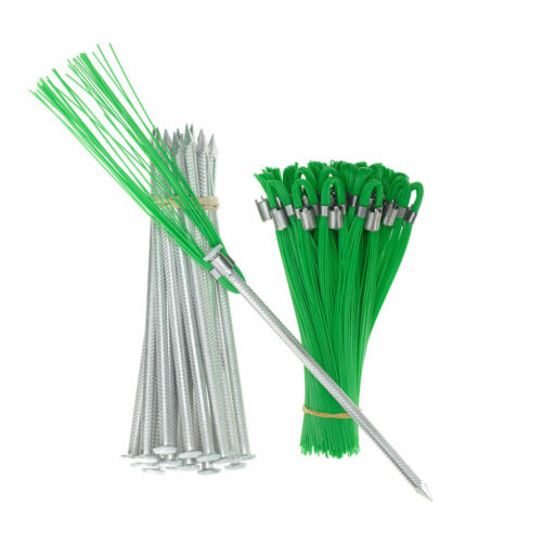 Field Markers 6 In Green Whiskers with Stakes 25 Pack, Landscape, Safety, Flag