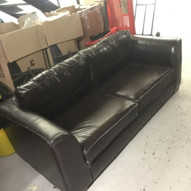 Black Faux Leather Look Sofa - FREE OF CHARGE - COLLECTION ONLY | in ...