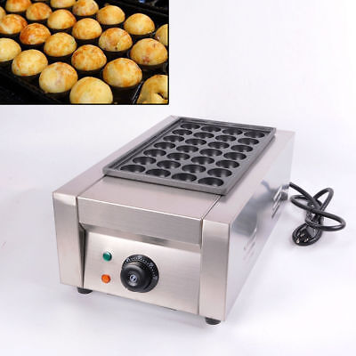 110V Commercial Takoyaki Maker Japanese Octopus Fish Ball 28Pcs Cake Machine USA