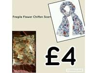 Avon Fragile flower chiffon scarf