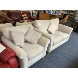 2 Seater Sofa and 1 Armchair (#44667) £199