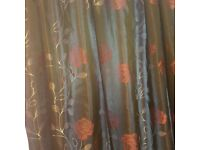 Rose Patterned Curtains