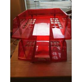 Filing trays stackable