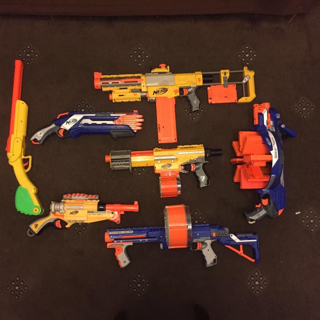 Nerf guns gun toys bullets bb weapon toys kids job lot CHEAP