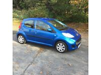 Peugeot 107 urban '10 plate 5door in blue ideal first car cheap tax damaged repairable