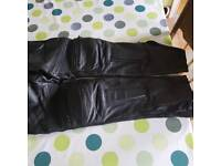 women leather trousers for motorbike size 30