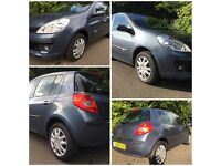 2009 Renault Clio 1.2 16v Expression 5dr ( 1 years full MOT & ONLY 13,200 MILES!!!!! + 2 services)