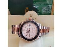 Men's Rolex yacht marster watch box set