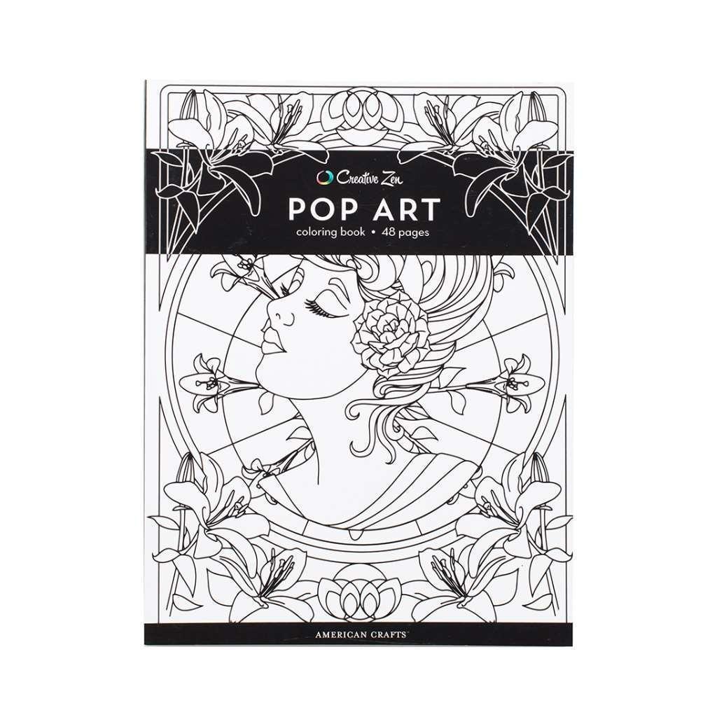 - American Crafts 375320 Pop Art Creative Zen Coloring Book Pop Art