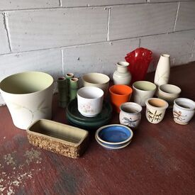Various Pots and Vases – Collect Only