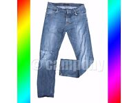 Nudie Jeans stressed Jeans W34 L34 w/ Free Uniqlo shorts