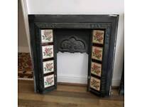 Otiginal cast iron fire place