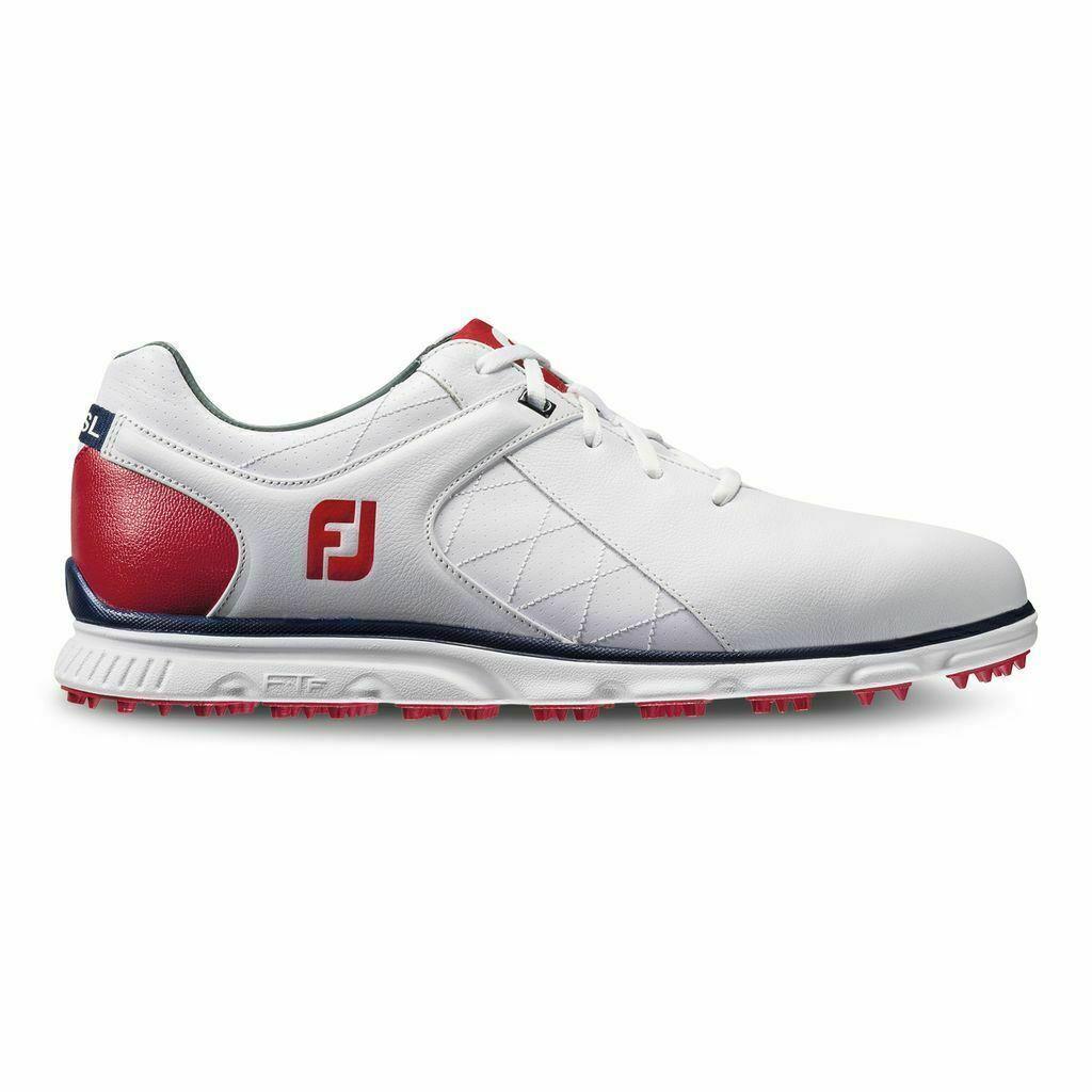 FootJoy Men's Golf Pro SL Shoes 53243 White/Red 11.5 Medium (D) NEW #75892