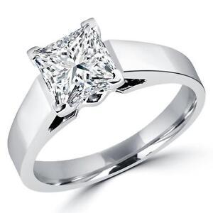 Diamond Engagement Ring 1.15CT Bague de Fiançailles en Diamant Princess