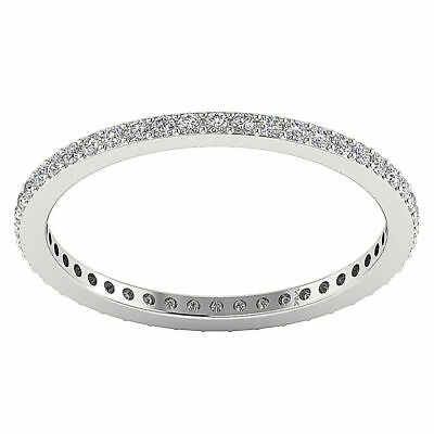 - VS1 F Eternity Wedding Natural Diamond Ring 0.55Carat 14Kt White Gold Appraisal