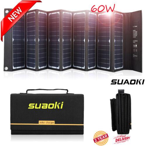 60w usb dc solar panel folding power