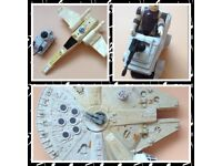 1970/80s Vintage Star Wars Millenium Falcon Ship And Others