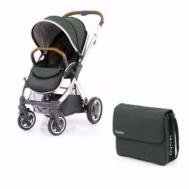 BabyStyle Oyster 2 Mirror Tan frame with Olive Colour Pack & Matching Bag New - NW9 8UA COLLECTION