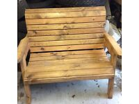 Solid pine garden bench ,I have 2 of but price is per bench, As new
