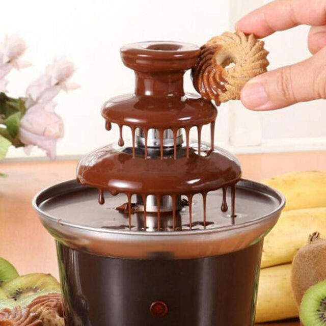 Chocolate Fountain Machine Fondue Maker Heated 3-Tier Home Household Party