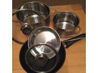 Neff 4 piece pan/ saucepan set