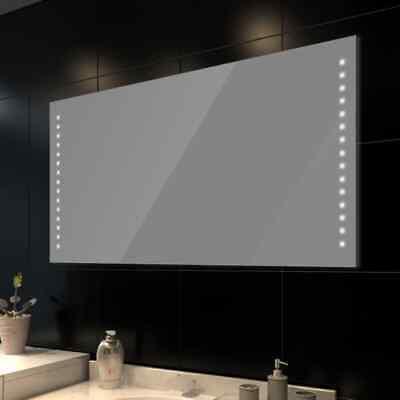 vidaXL Espejo de Cuarto de Baño de Lavabo con Luces de LED...