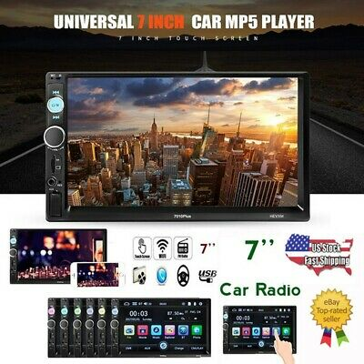 "7"" Double 2DIN Car MP5 Player Bluetooth Touch Screen Stereo Radio USB AUX IN"