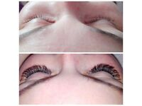 Russian volume lashes, 1:1 lashes, shellac nails