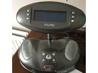 PURE DAB BUG RADIO, original power supply, instruction booklet