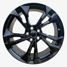 "Audi A5 A6 A7 A8 Q5 x4 19"" S5 2021 Style Alloys Gloss Black 8.5J Et30"
