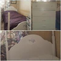 twin bed with drawers chest for sale!